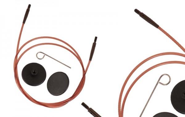 KnitPro Seile Braun für Rundnadelsysteme