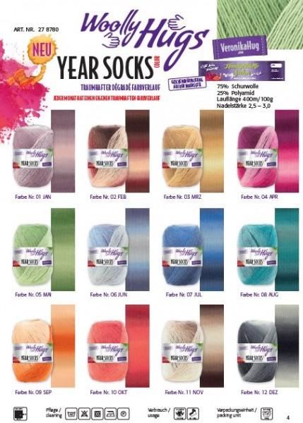 Woolly Hugs Year Socks
