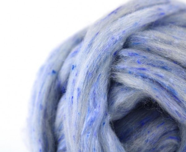 Tweed Kammzug Tea Cup Blue